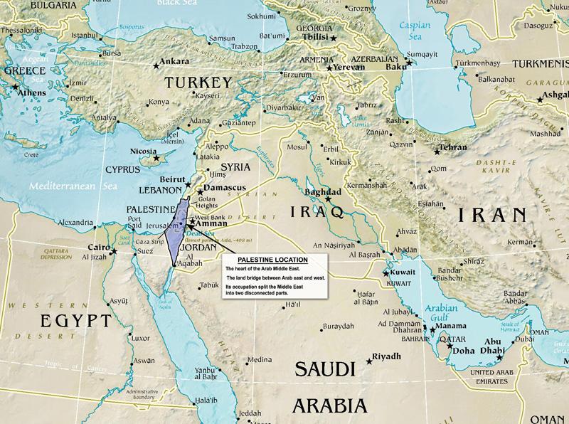 Palestine Land Society Why The Gulf Needs Palestine - Palestine location